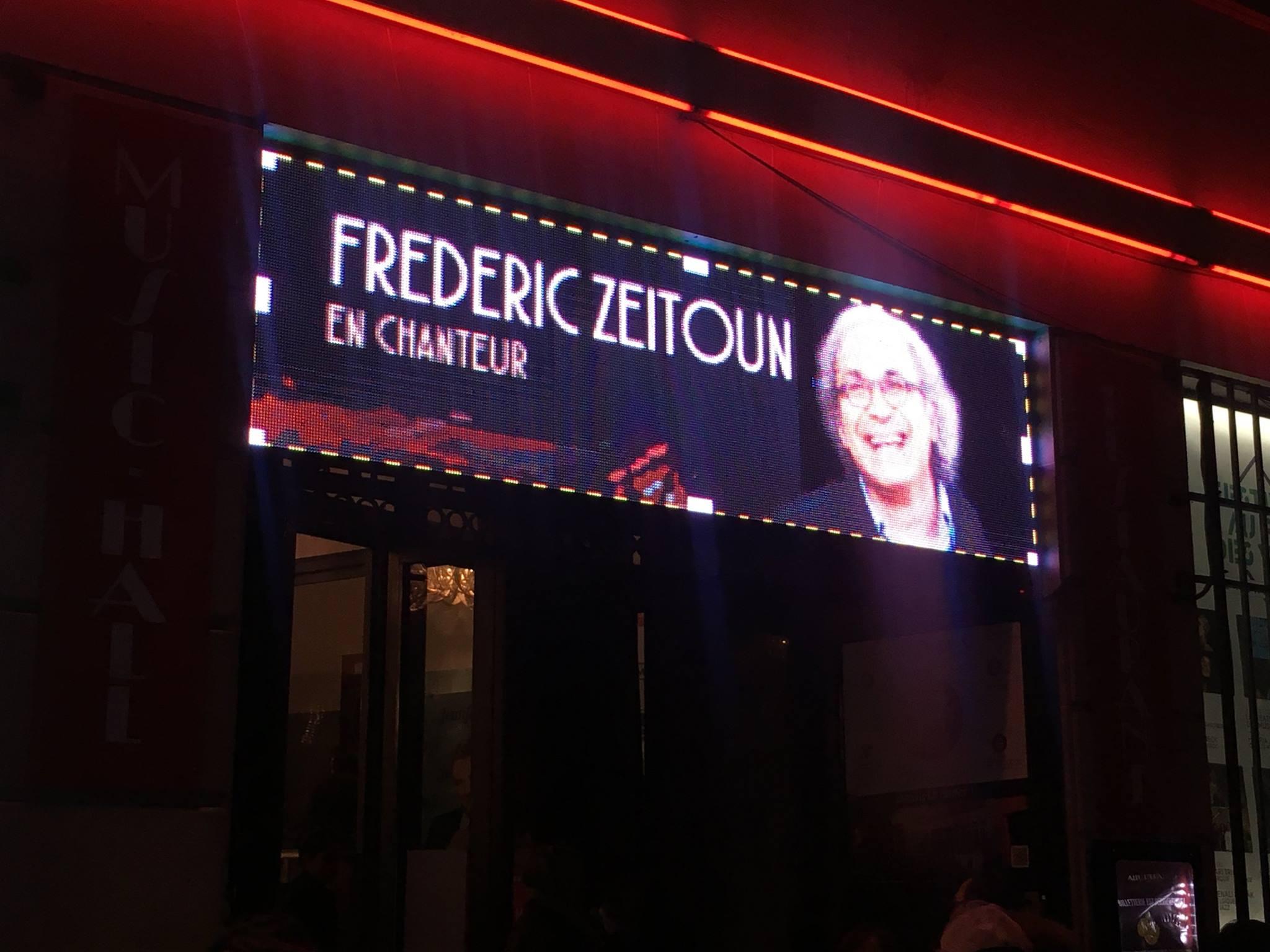 Bannière concert Fred Zeitoun en concert