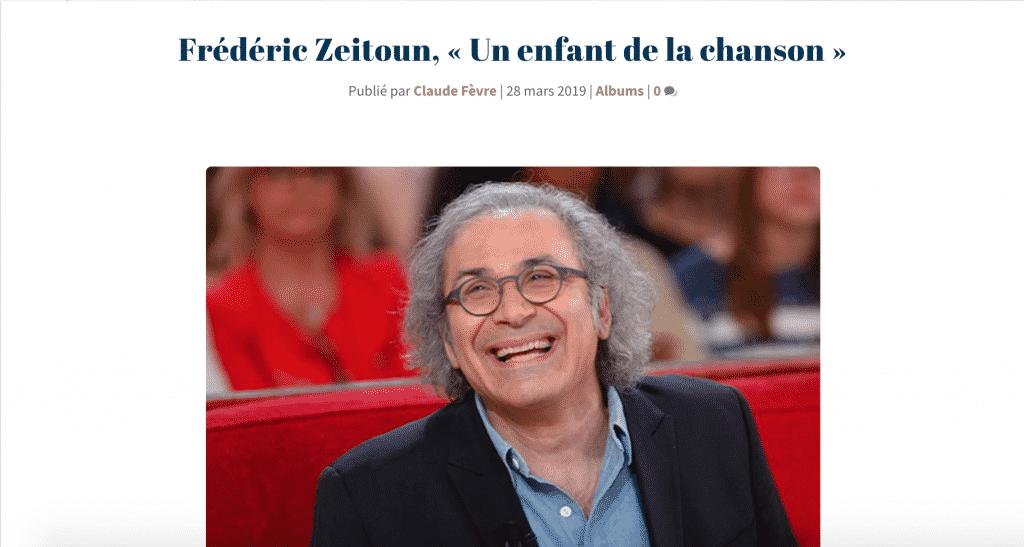 """Fred Zeitoun """"un enfant de la chanson"""""""