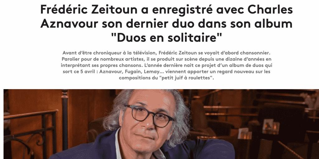 Article Fred Zeitoun