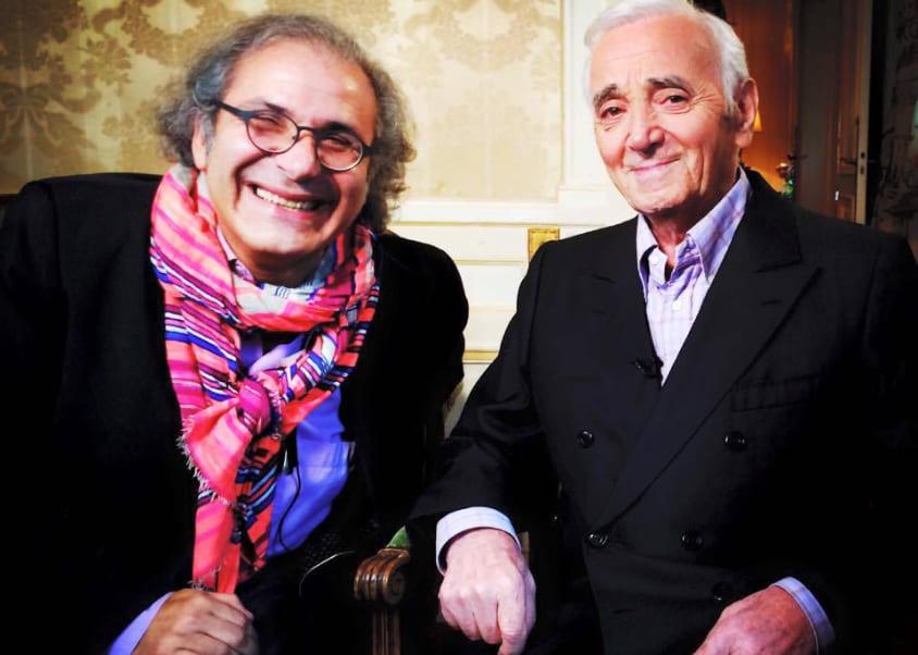 Frédéric Zeitoun et Charles Aznavour